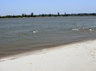 Sand beach on Danube