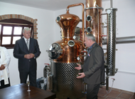 Opening of the distillery